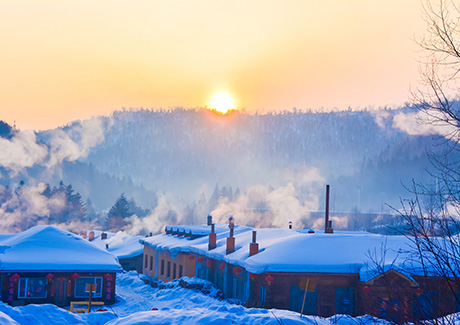 ★重庆到哈尔滨旅游,哈尔滨+亚布力滑雪+中国雪乡特价双飞6日游【爱在雪乡】