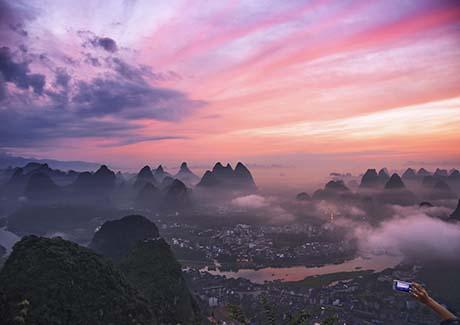 ♥重庆到广西旅游,广西通灵峡谷+德天瀑布+北海渔家乐双动6日旅游